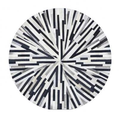 Luxus bőr szőnyeg 200 cm, kerek, csíkos - INTERSTELLAR